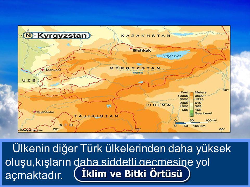 Kırgızistan'da genel olarak karasal bir iklim hüküm sürer