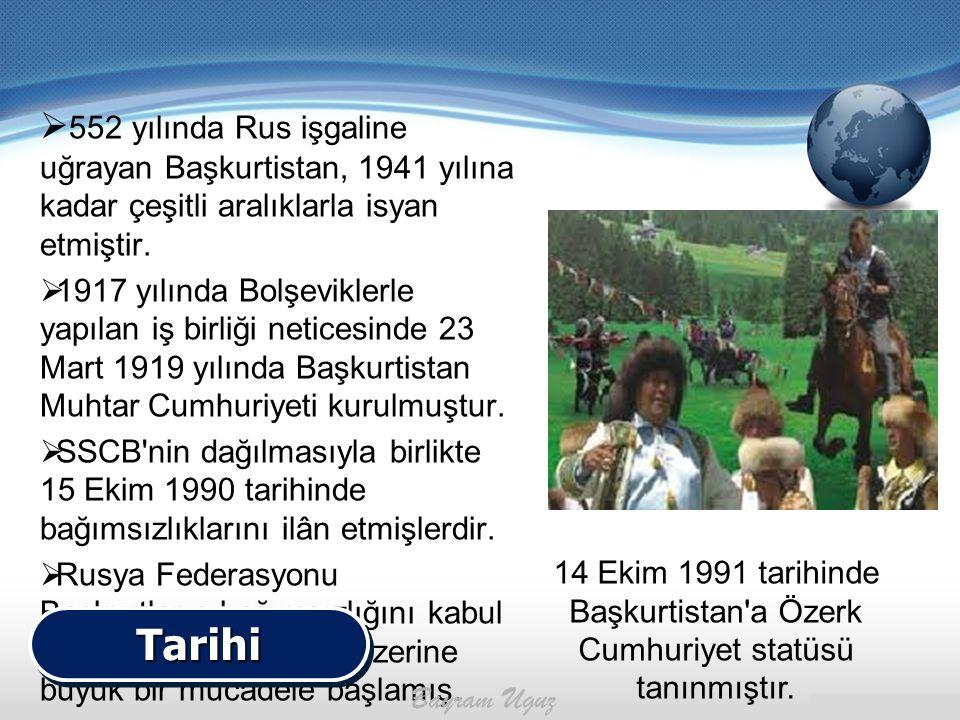 552 yılında Rus işgaline uğrayan Başkurtistan, 1941 yılına kadar çeşitli aralıklarla isyan etmiştir.