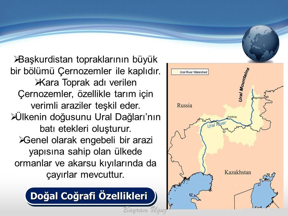 Başkurdistan topraklarının büyük bir bölümü Çernozemler ile kaplıdır.