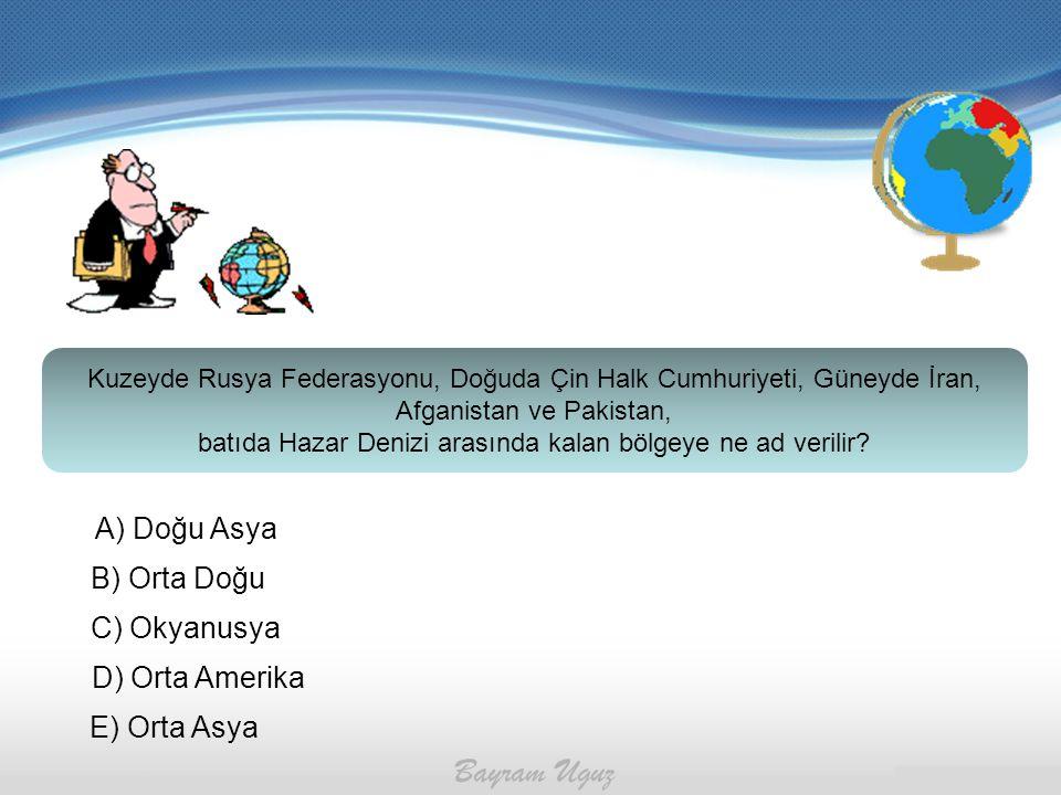 batıda Hazar Denizi arasında kalan bölgeye ne ad verilir