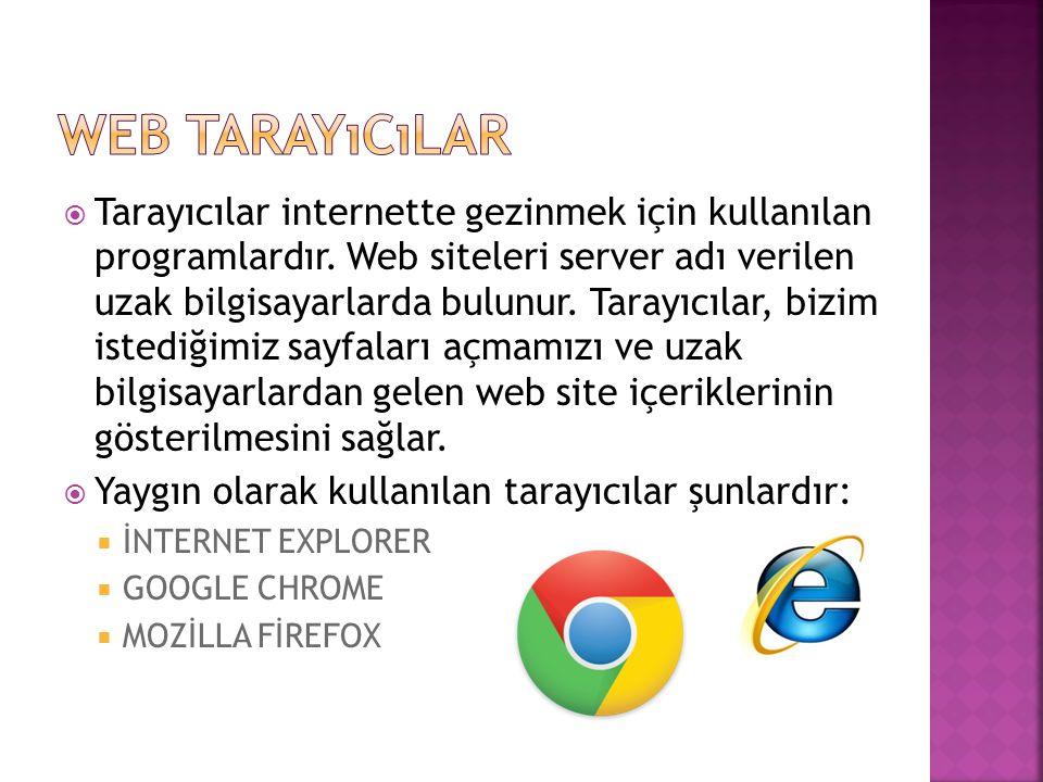 WEB tarayıcılar