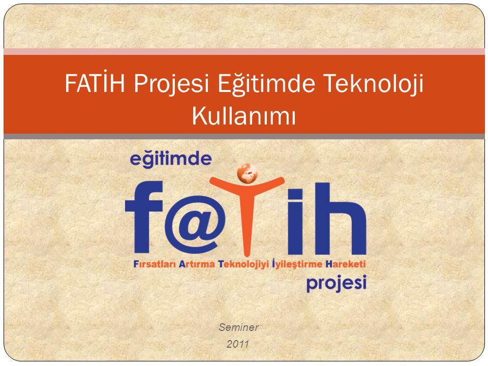FATİH Projesi Eğitimde Teknoloji Kullanımı