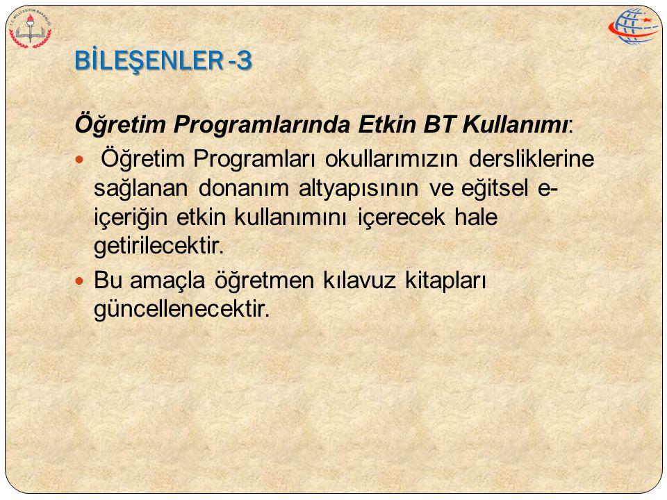 BİLEŞENLER -3 Öğretim Programlarında Etkin BT Kullanımı: