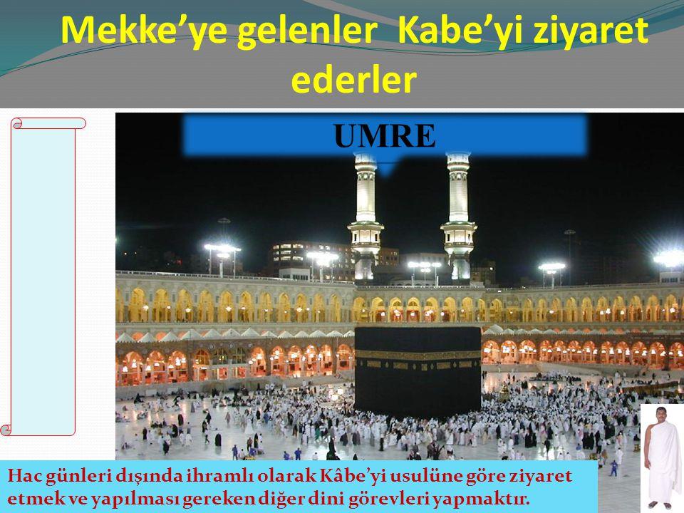Mekke'ye gelenler Kabe'yi ziyaret ederler