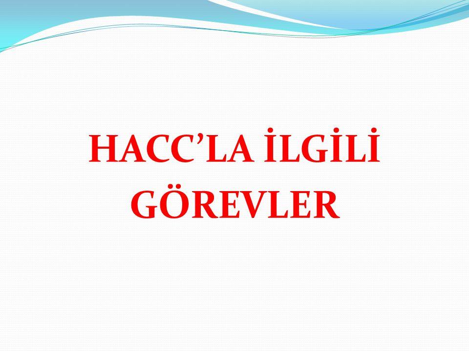 HACC'LA İLGİLİ GÖREVLER