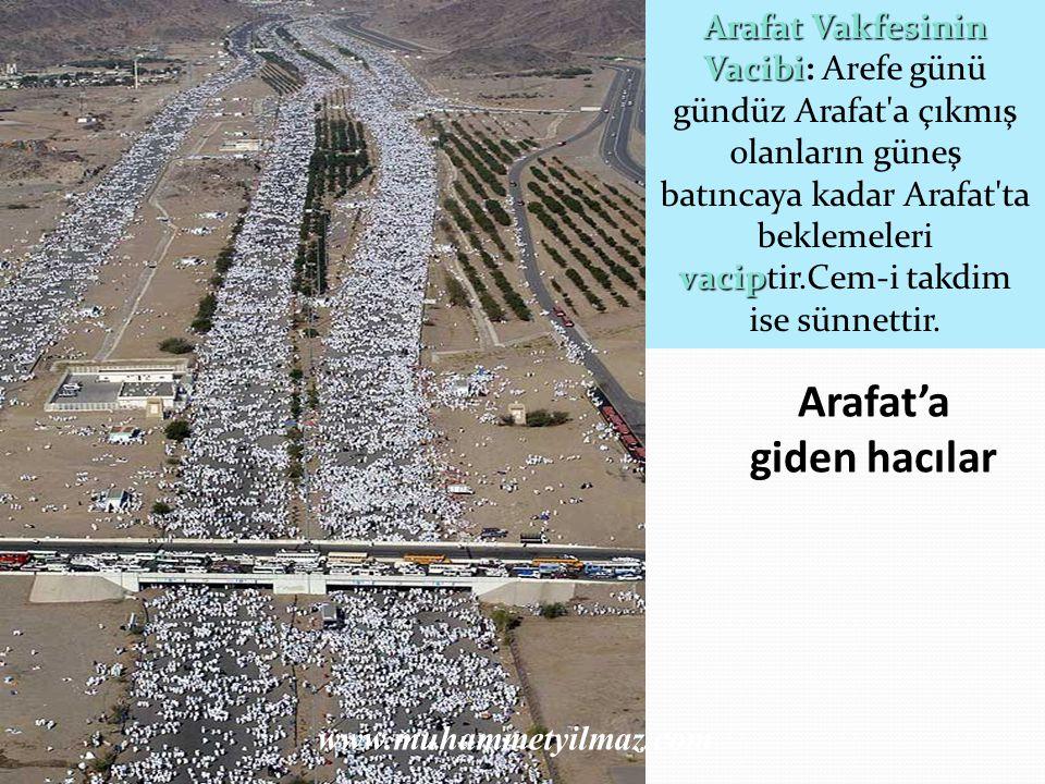 Arafat'a giden hacılar