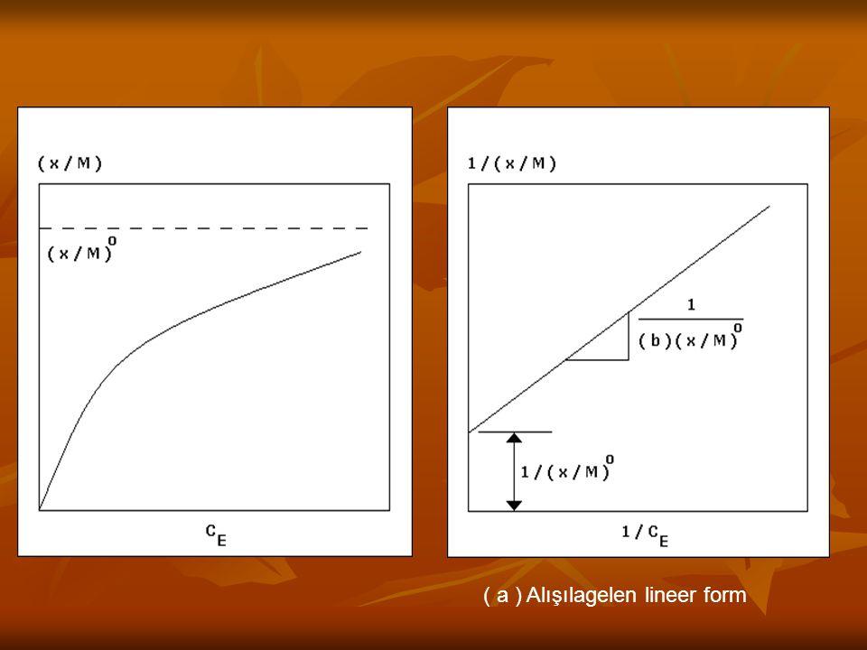 ( a ) Alışılagelen lineer form