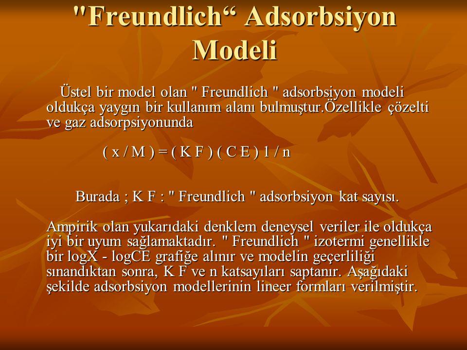 Freundlich Adsorbsiyon Modeli