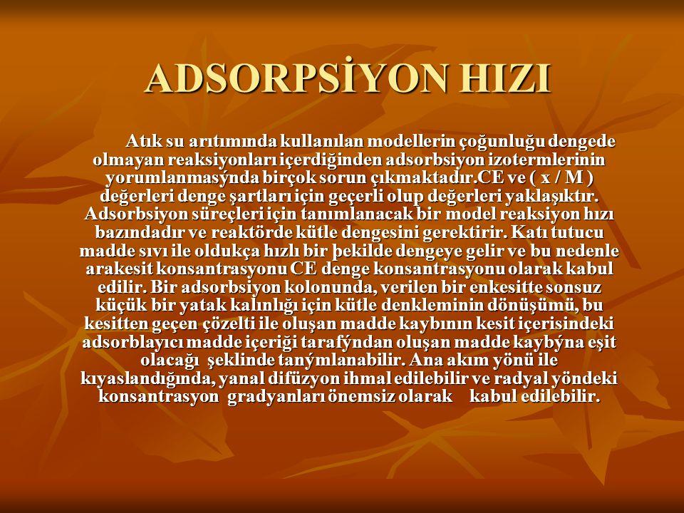 ADSORPSİYON HIZI