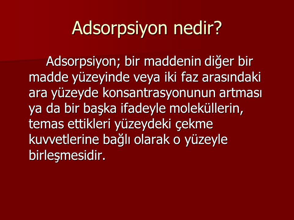 Adsorpsiyon nedir