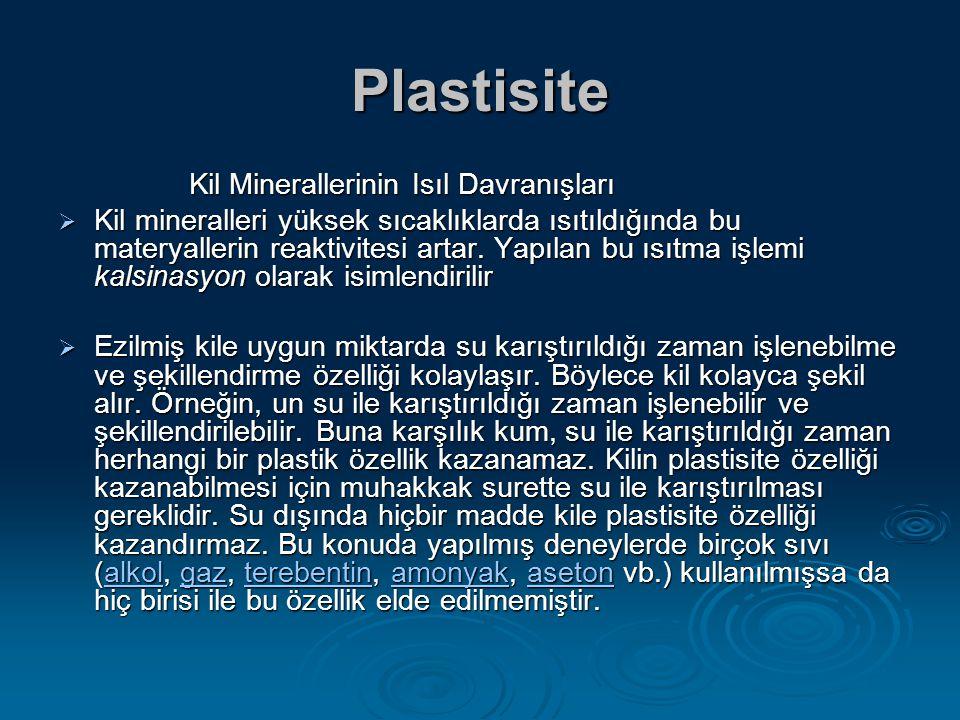Plastisite Kil Minerallerinin Isıl Davranışları