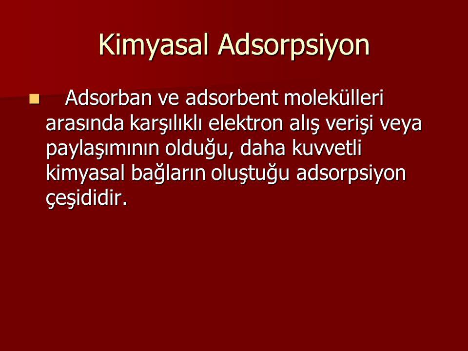 Kimyasal Adsorpsiyon