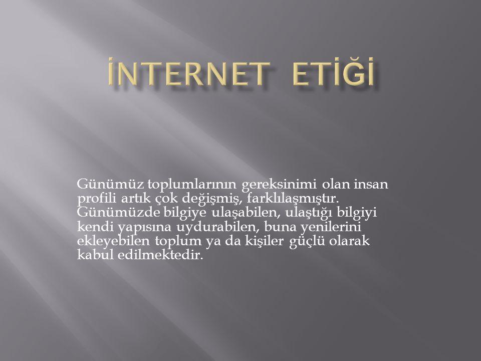 İNTERNET ETİĞİ