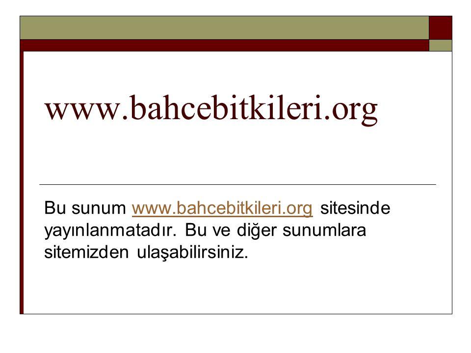 www.bahcebitkileri.org Bu sunum www.bahcebitkileri.org sitesinde yayınlanmatadır.
