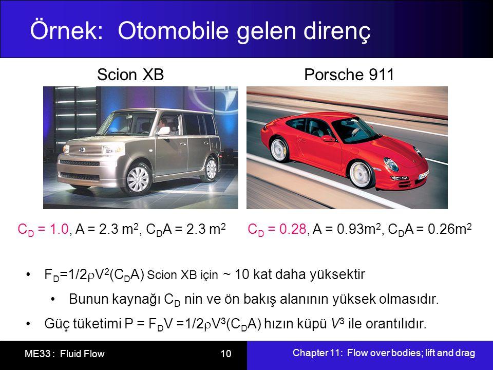 Örnek: Otomobile gelen direnç