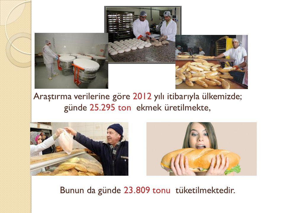 Araştırma verilerine göre 2012 yılı itibarıyla ülkemizde;