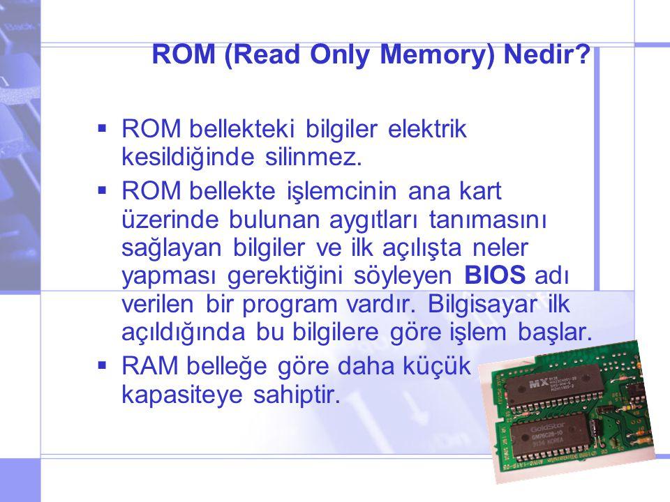 ROM (Read Only Memory) Nedir