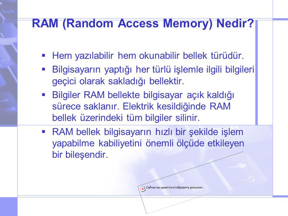 RAM (Random Access Memory) Nedir