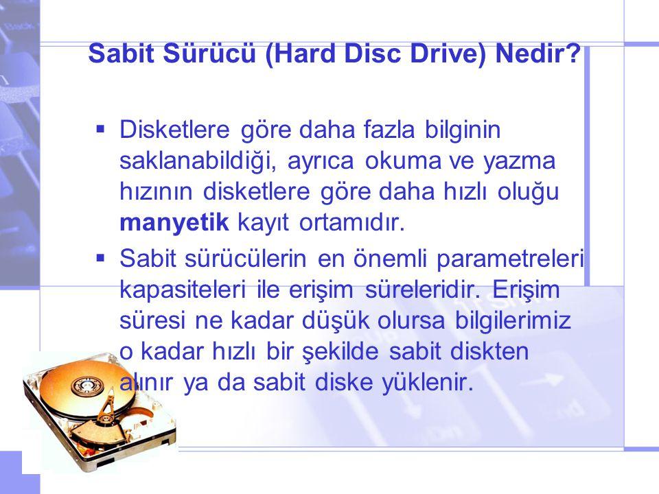 Sabit Sürücü (Hard Disc Drive) Nedir