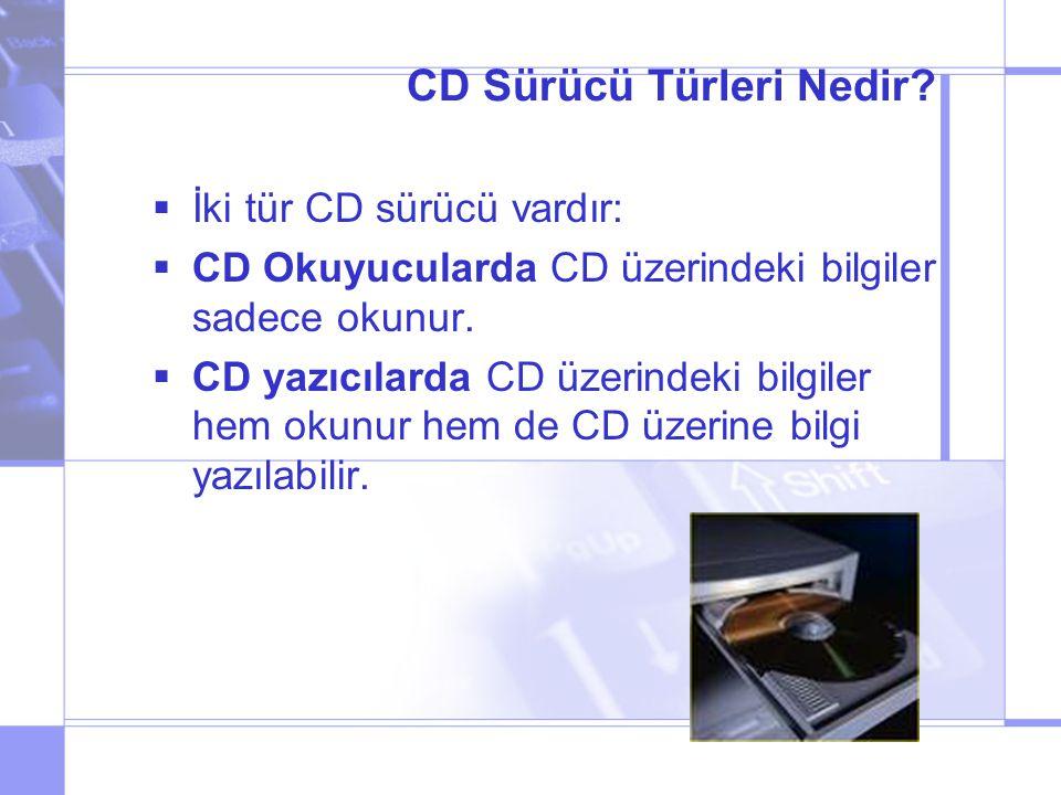 CD Sürücü Türleri Nedir