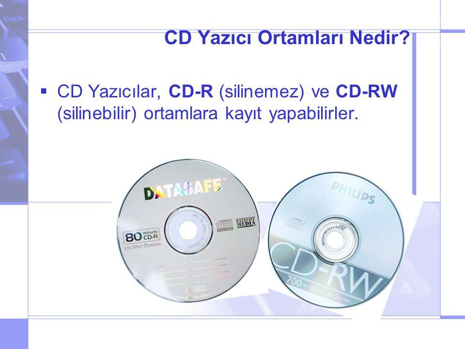 CD Yazıcı Ortamları Nedir