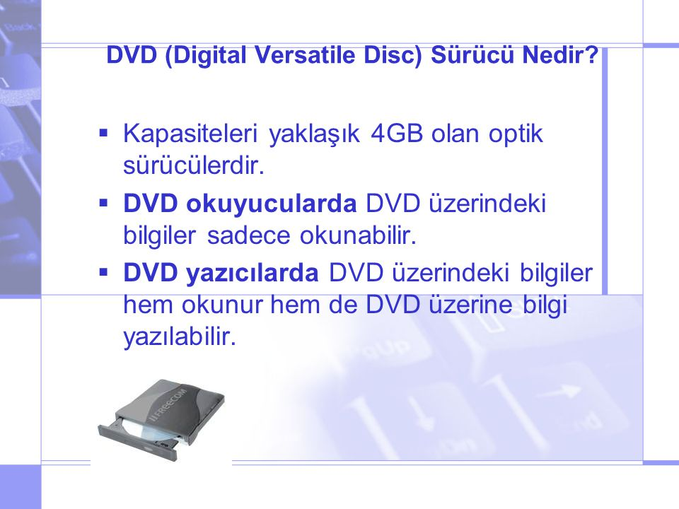 DVD (Digital Versatile Disc) Sürücü Nedir