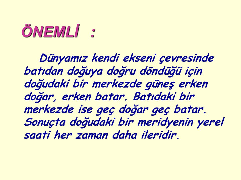 ÖNEMLİ :