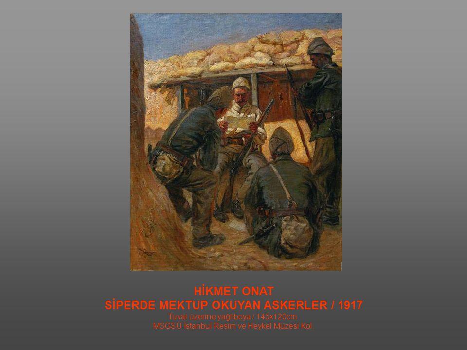 SİPERDE MEKTUP OKUYAN ASKERLER / 1917