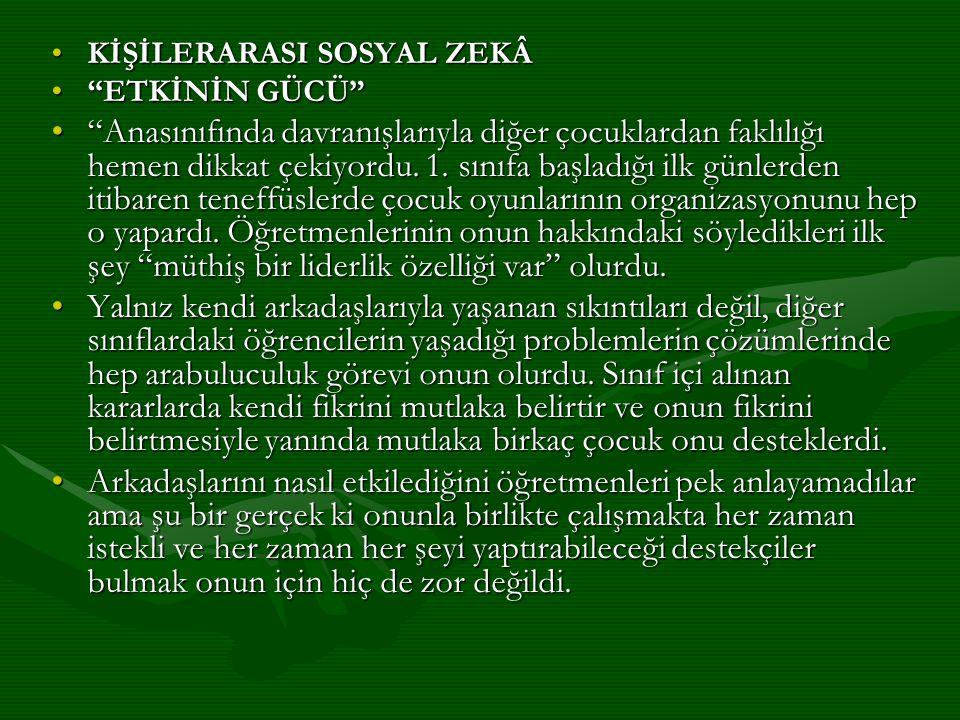 KİŞİLERARASI SOSYAL ZEKÂ