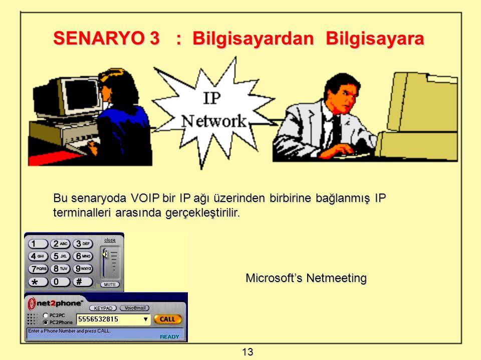 SENARYO 3 : Bilgisayardan Bilgisayara