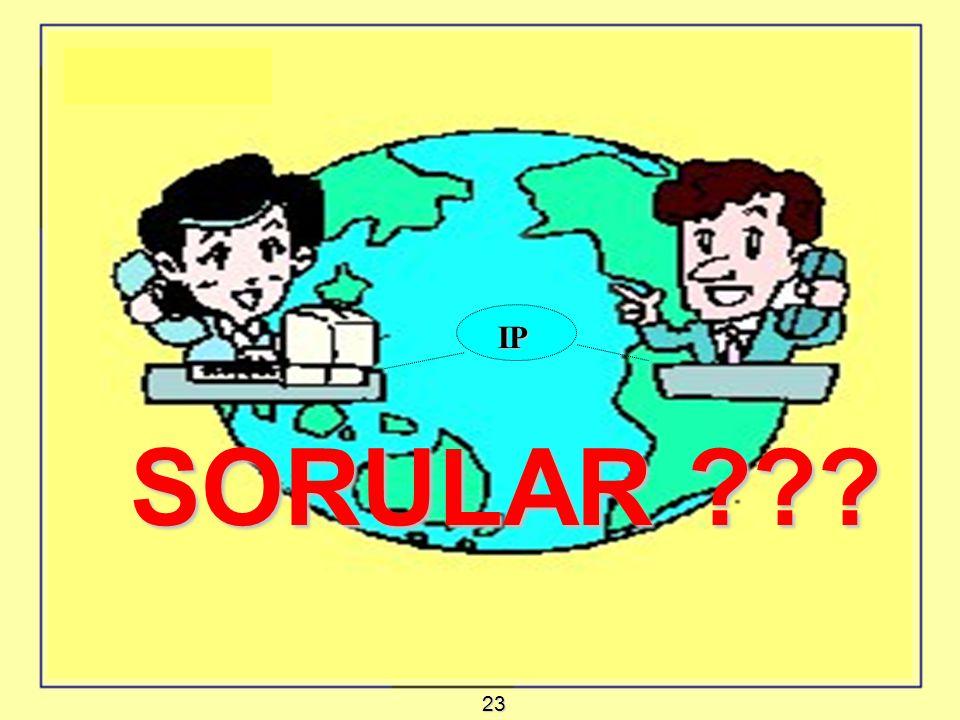 SONUÇ : IP IP SORULAR SORULAR 23