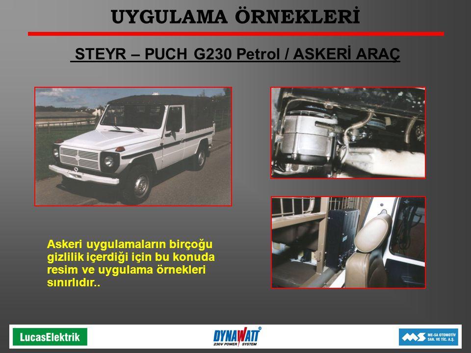 STEYR – PUCH G230 Petrol / ASKERİ ARAÇ