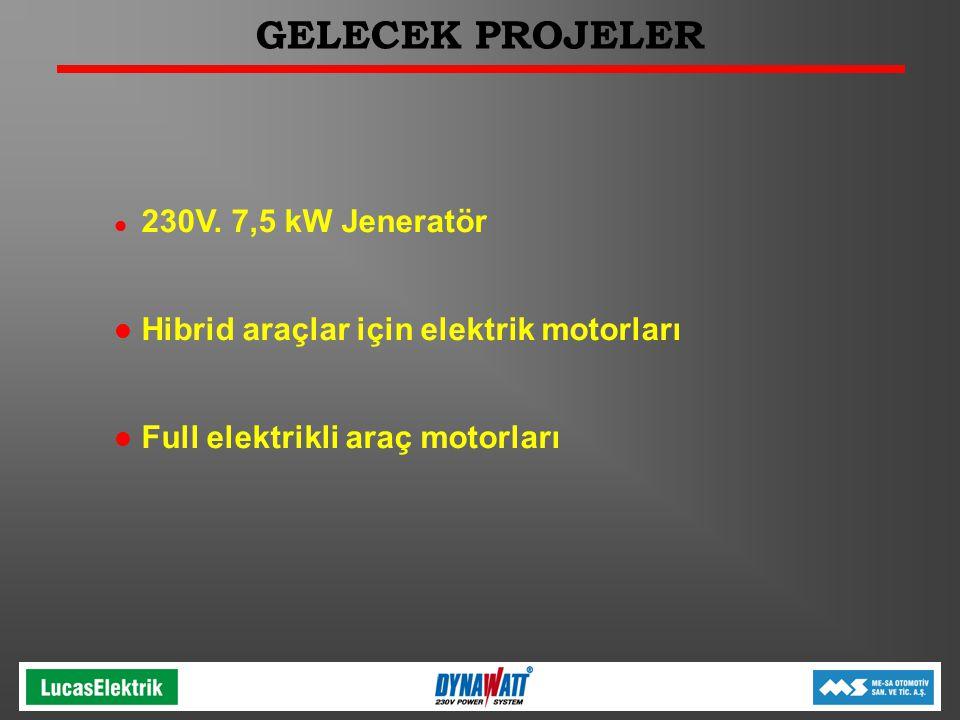GELECEK PROJELER Hibrid araçlar için elektrik motorları