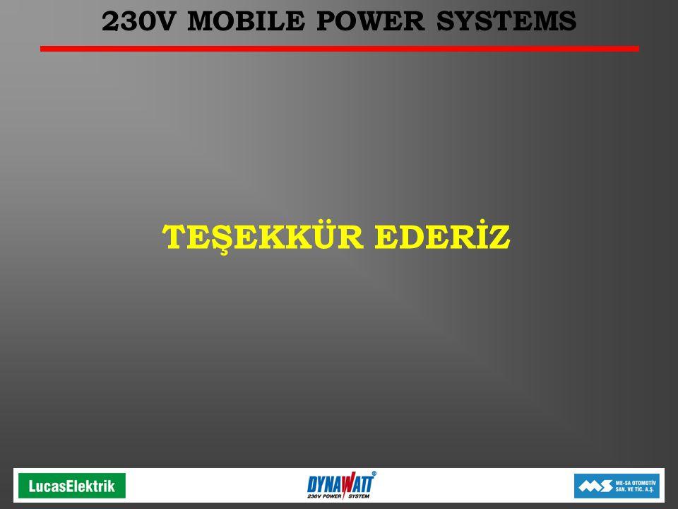 230V MOBILE POWER SYSTEMS TEŞEKKÜR EDERİZ
