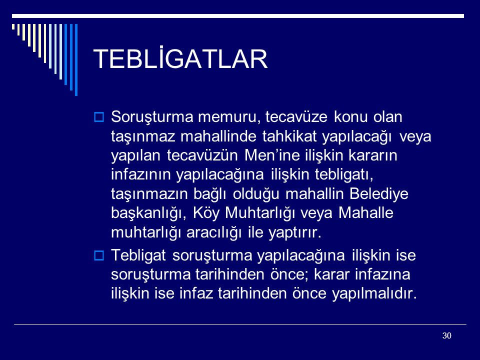 TEBLİGATLAR