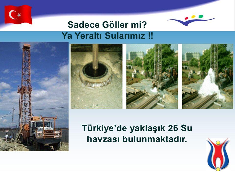 Türkiye'de yaklaşık 26 Su havzası bulunmaktadır.