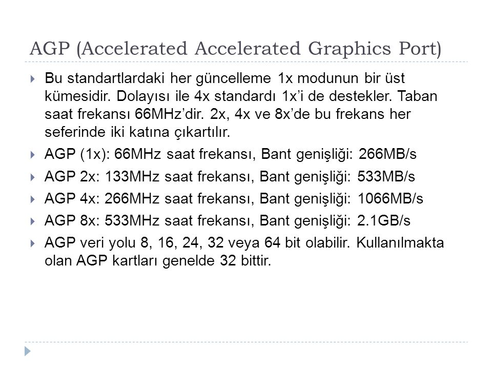 AGP (Accelerated Accelerated Graphics Port)