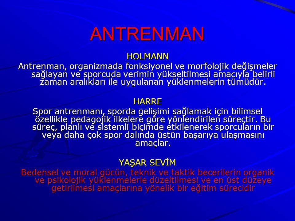 ANTRENMAN HOLMANN.