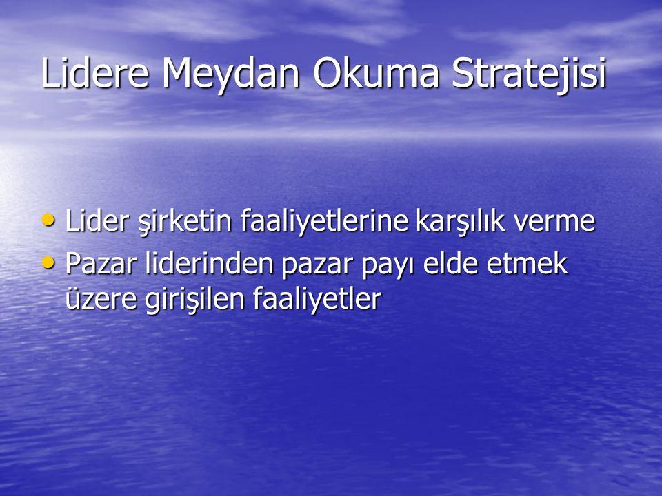 Lidere Meydan Okuma Stratejisi