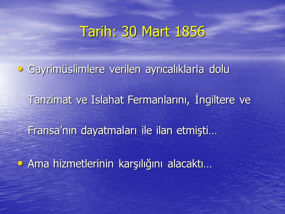 Tarih: 30 Mart 1856