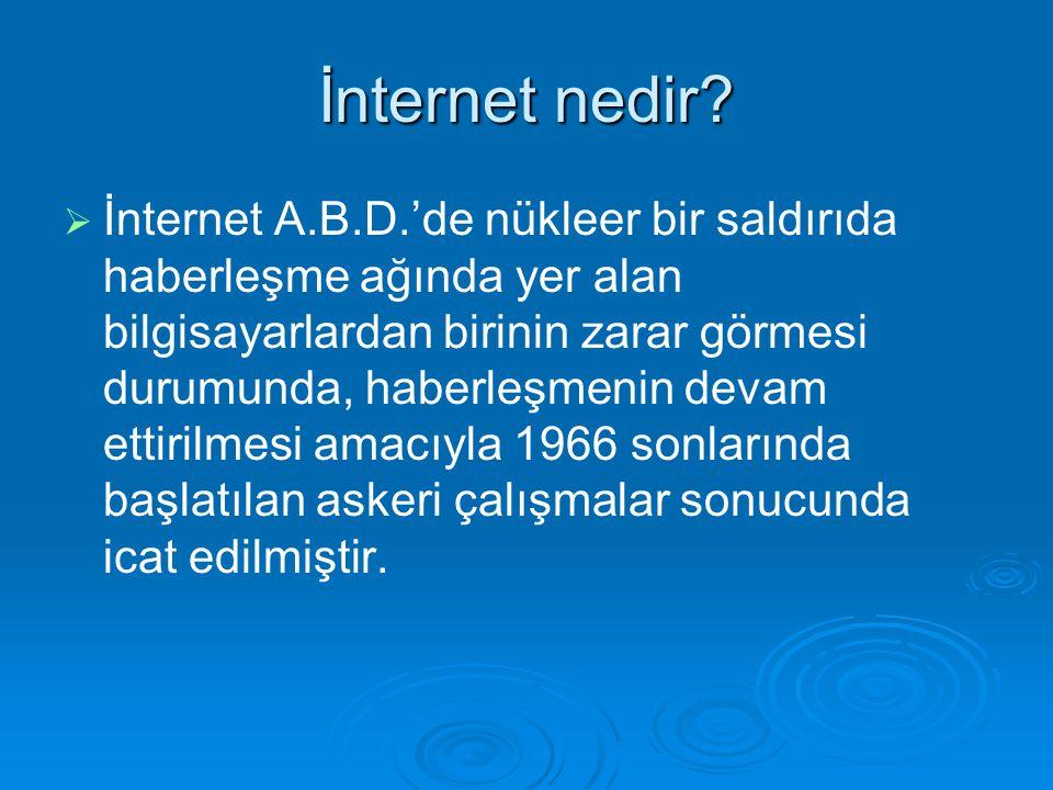 İnternet nedir