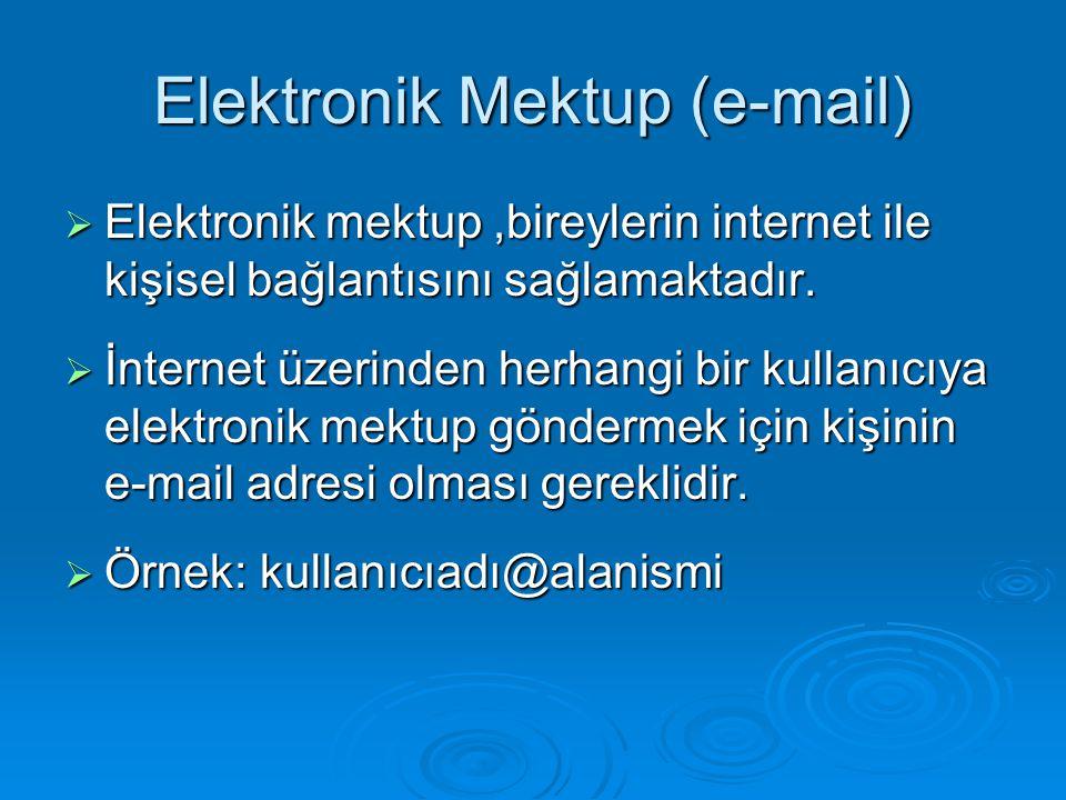 Elektronik Mektup (e-mail)