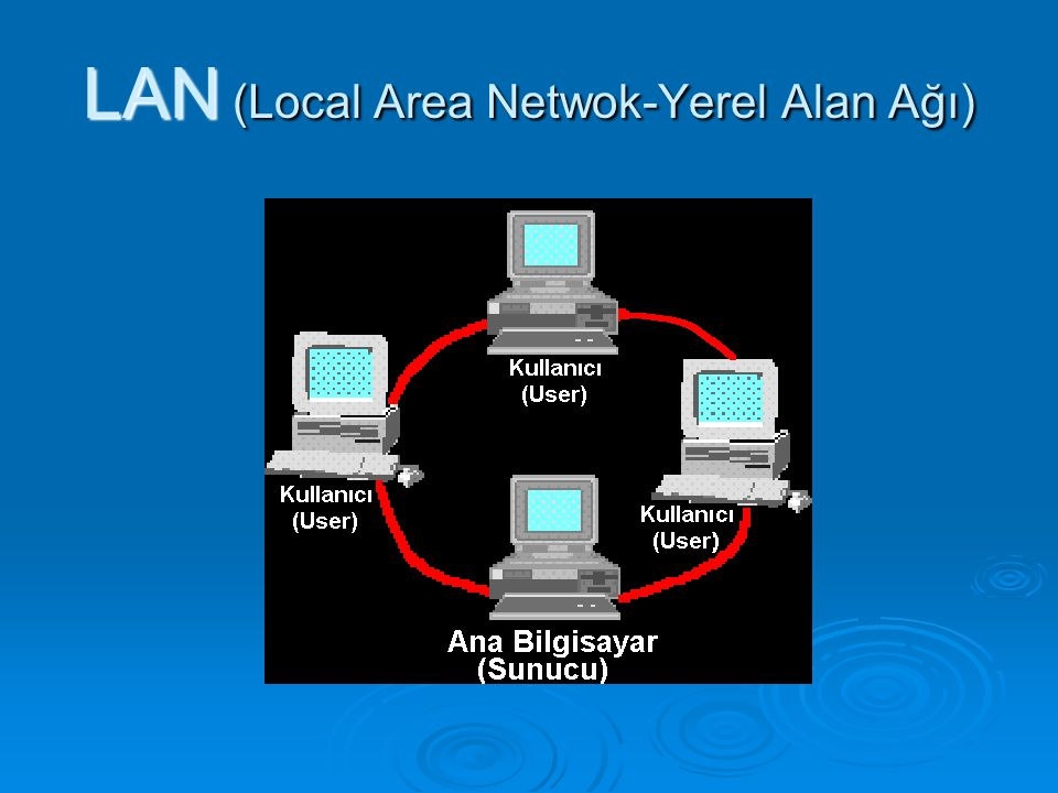 LAN (Local Area Netwok-Yerel Alan Ağı)