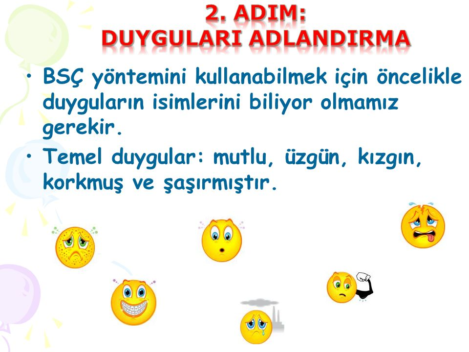 2. adIM: duygularI adlandIrma