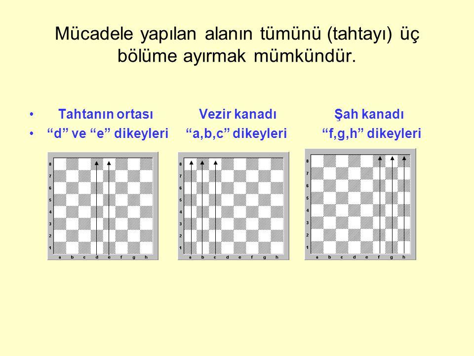 Mücadele yapılan alanın tümünü (tahtayı) üç bölüme ayırmak mümkündür.