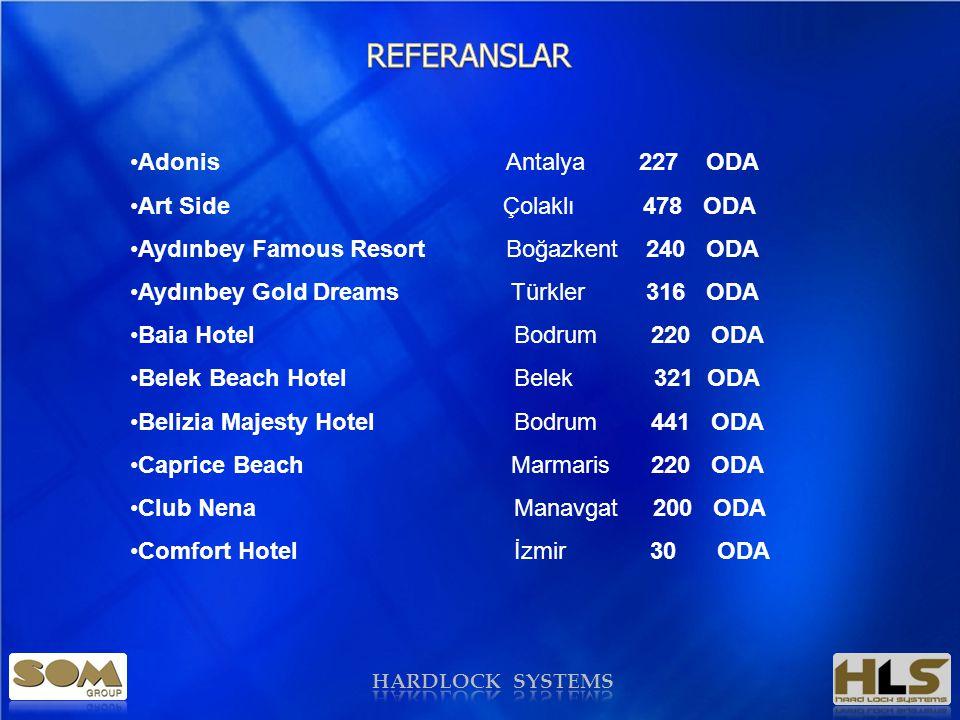 REFERANSLAR Adonis Antalya 227 ODA Art Side Çolaklı 478 ODA