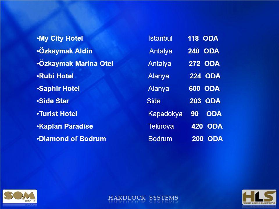 My City Hotel İstanbul 118 ODA Özkaymak Aldin Antalya 240 ODA