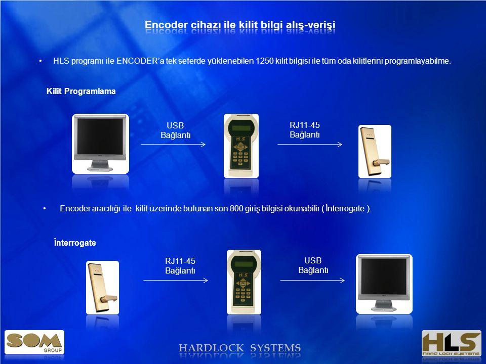 Encoder cihazı ile kilit bilgi alış-verişi