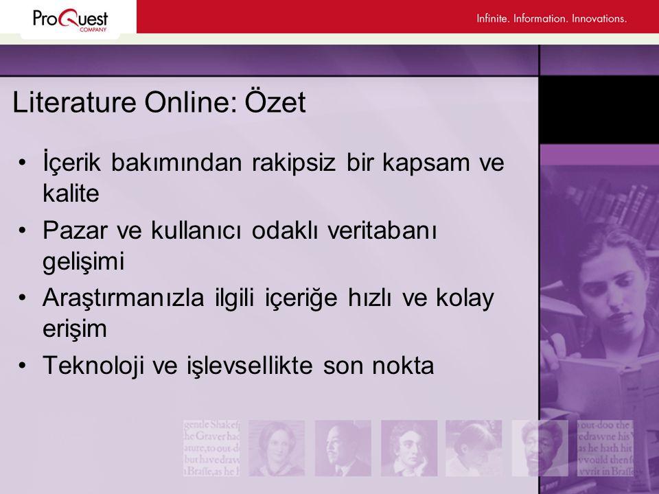 Literature Online: Özet