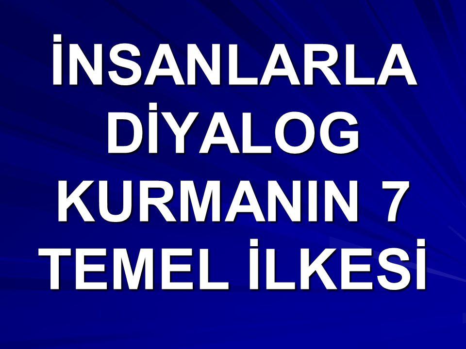İNSANLARLA DİYALOG KURMANIN 7 TEMEL İLKESİ